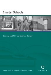 Charter Schools: Borrowing With Tax-Exempt Bonds - Orrick ...