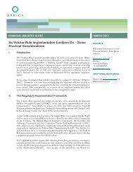 As Volcker Rule Implementation Lumbers On - Orrick, Herrington ...