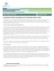 Amendment to New York Wage Law to Take Effect April 12, 2011