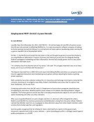 Employment MVP - Orrick, Herrington & Sutcliffe LLP