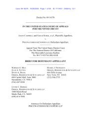PwC, Appellant's Opening Brief - Orrick, Herrington & Sutcliffe LLP