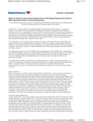 Page 1 of 2 Bank of America | Investor Relations | Financial ...