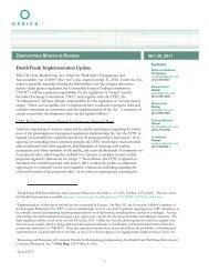 Dodd-Frank Implementation Update