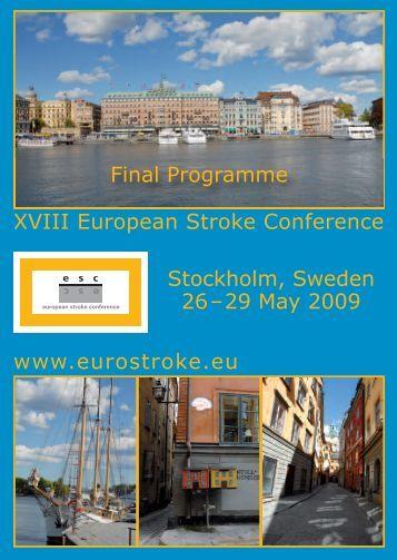 XVIII European Stroke Conference www.eurostroke.eu ... - Archive