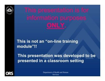 Asbestos Awareness Presentation - ORS