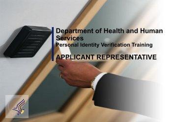 PIV Applicant Representative Training - ORS