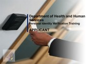 HHS ID Badge Applicant Training - ORS