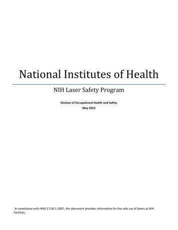 NIH Laser Safety Program - ORS - National Institutes of Health