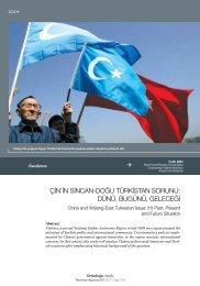 çin'in sincan-doğu türkistan sorunu: dünü, bugünü, geleceği - orsam