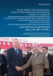 kuzey ırak'ın toplumsalsiyasal yapısı ve kürt bölgesel ... - orsam