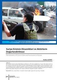 Suriye Krizinin Dinamikleri ve Aktörlerin Değerlendirilmesi - orsam