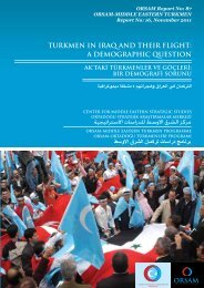 turkmen in iraq and their flight - orsam