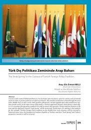 Türk Dış Politikası Zemininde Arap Baharı - orsam