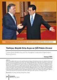 Türkiye, Büyük Orta Asya ve ŞİÖ Pekin Zirvesi - orsam
