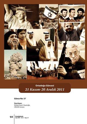 21 Kasım-20 Aralık 2011 - orsam