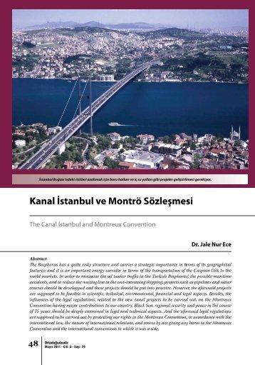 Kanal İstanbul ve Montrö Sözleşmesi - orsam