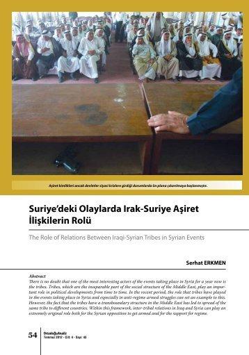 Suriye'deki Olaylarda Irak-Suriye Aşiret İlişkilerin Rolü - orsam