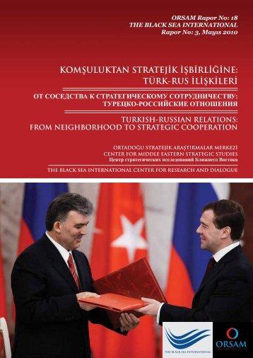 турецко-российские отношения - orsam