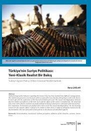 Türkiye'nin Suriye Politikası: Yeni-Klasik Realist Bir Bakış - orsam