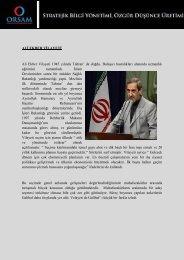İran İslam Cumhuriyeti Cumhurbaşkanı Adayları - orsam