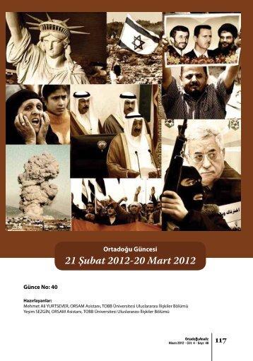 21 Şubat 2012-20 Mart 2012 - orsam