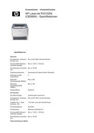 HP LaserJet P2015DN (CB368A) - Spezifikationen