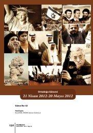 ORTADOĞU GÜNCESİ 21 Nisan 2012 – 20 Mayıs 2012 - orsam