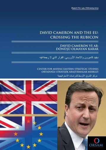 DAVID CAMERON AND THE EU: CROSSING THE RUBICON - orsam