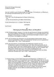 Satzung über die Reinigungs-, Räum - Orsingen - Nenzingen