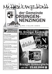 FREITAG • 22. Februar 2008 • AUSGABE 08 - Orsingen - Nenzingen