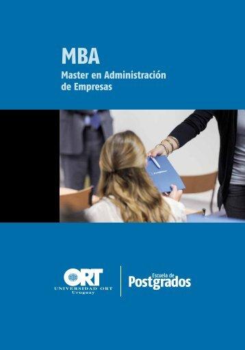 Master en Administración de Empresas - Universidad ORT Uruguay