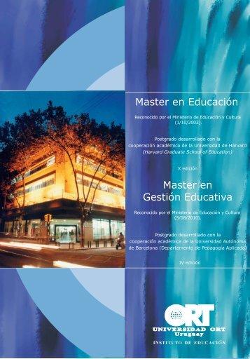 MASTER EN EDUCACIÓN - Universidad ORT Uruguay