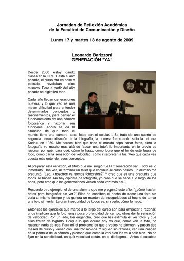 VI Jornadas de Reflexión Académica - Universidad ORT Uruguay