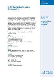Rechtliche und ethische Aspekte der Reanimation - Ortenau Klinikum