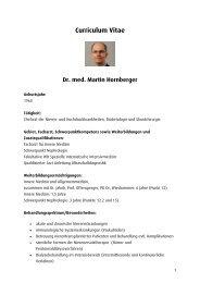 Curriculum Vitae - Ortenau Klinikum