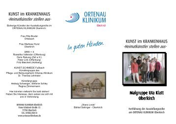 Informationsflyer - Ortenau Klinikum