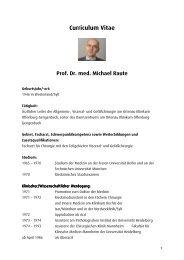 Curriculum Vitae Prof. Dr. med. Michael Raute - Ortenau Klinikum