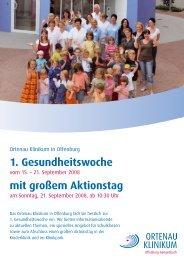 1. Gesundheitswoche mit großem Aktionstag - Ortenau Klinikum
