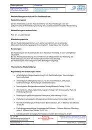 Weiterbildungscurriculum für Assistenzärzte - Ortenau Klinikum Portal