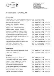 Sonderpreise Frühjahr 2010 - Orthmann-Weine