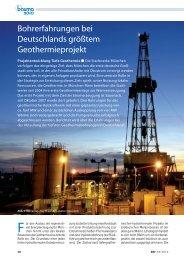 Bohrtechnik / Geothermie - Erdwerk