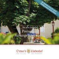 Preise und Arrangements 2014.