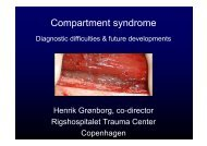 Compartment syndrome - Diagnostic difficulties and future ...