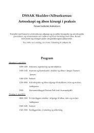 DSSAK Skulder-/Albuekursus: Artroskopi og åben kirurgi i praksis