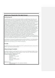 Beskrivelse af fagområdet Fod-ankel kirurgi Formål Afgrænsning af ...