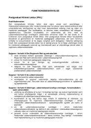 Funktionsbeskrivelse - Sekretariatet Lægelig Videreuddannelse