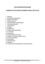 knænær osteotomi - Dansk Ortopædisk Selskab