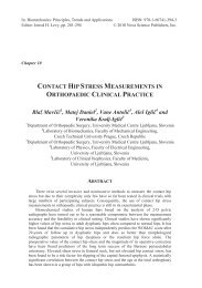 contact hip stress measurements in orthopaedic clinical practice