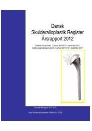 Dansk Skulderalloplastik Register Årsrapport 2012
