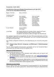 Protokoll Nr. 21 - Ortsamt Schwachhausen/Vahr - Bremen
